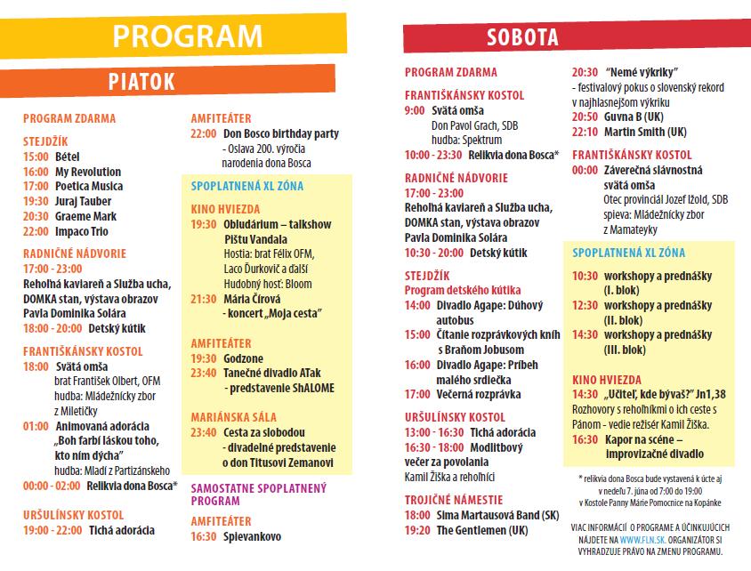Bulletin Festivalu Lumen 2015