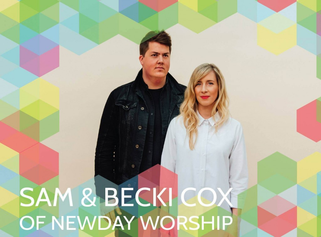 Sam a Becki Cox of NewDay Worship na hlavnom pódiu